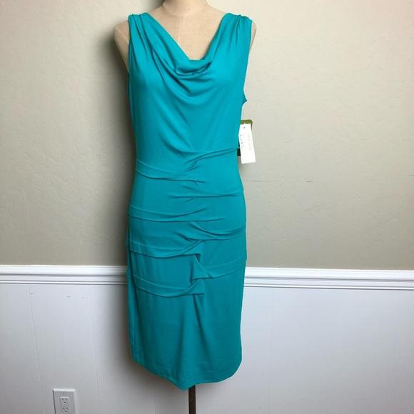 fdb7e452 Nicole Miller Dresses | Artilier Stretch Draped Neck Dress | Poshmark